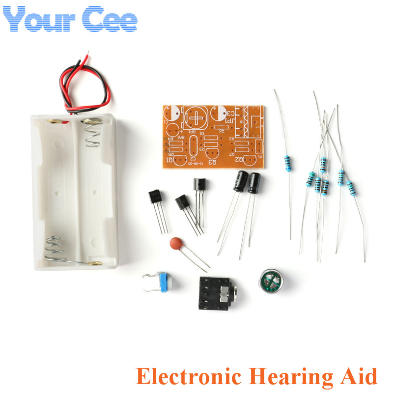 Loudspeaker Kit DIY Electronic Hearing Aid Kits Loudspeaker DIY Parts Funny Electronic Training Welding Practice Board PCB