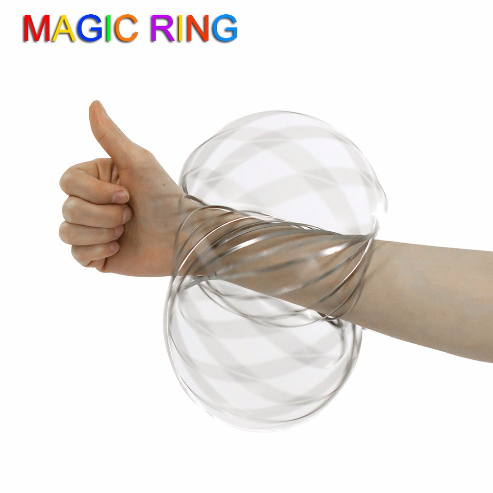 Niuniu Daddy Toroflux Torofluxus Flowtoys Magic Ring Flow Ring Kinetic Spring Toy 3D Sculpture Ring Outdoor Game Intelligent Toy