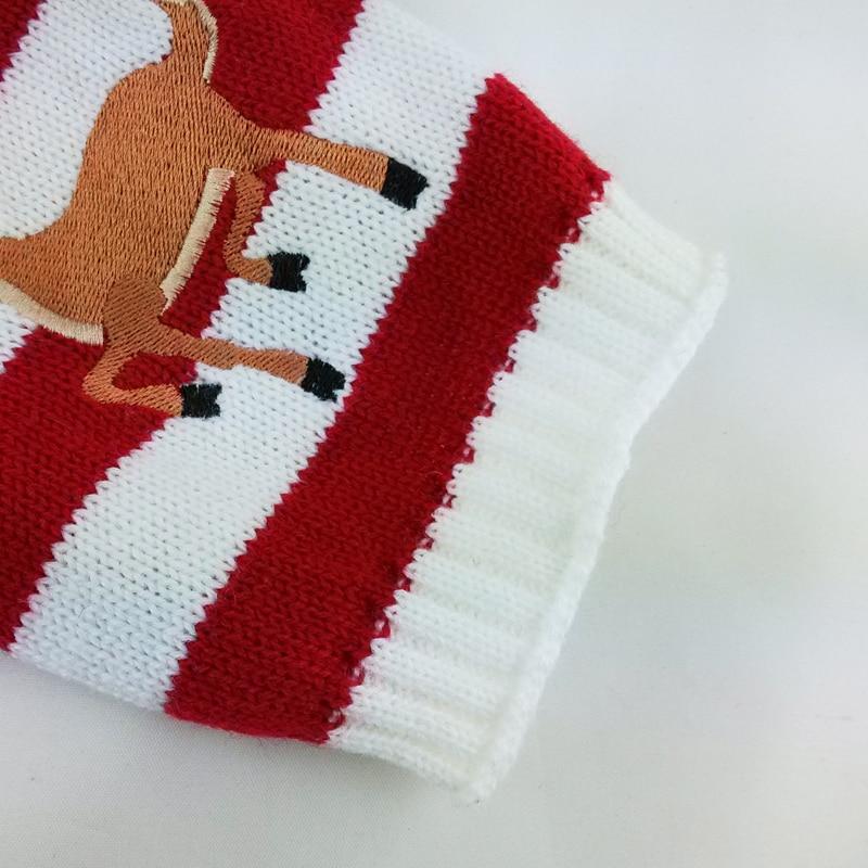 Envío libre Navidad Reno mascota perro gato suéter a rayas de punto ...