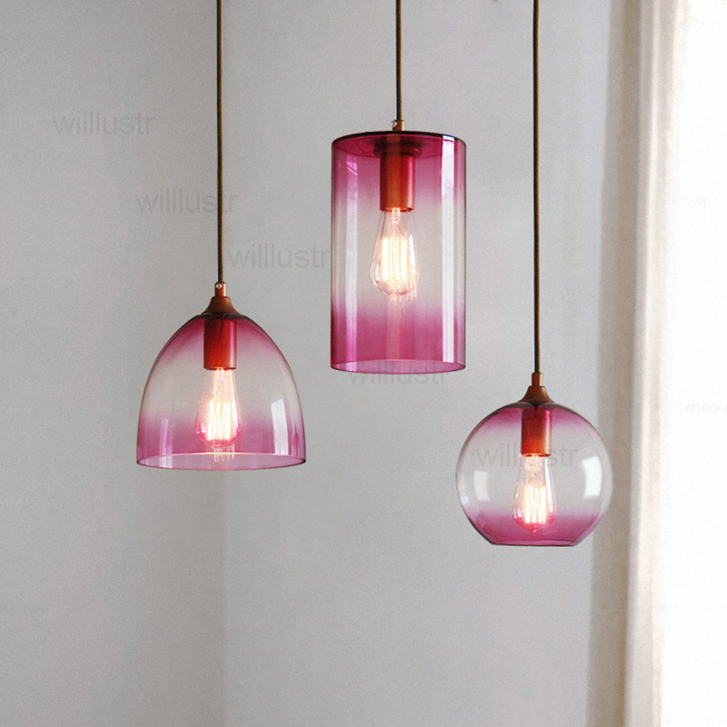 color glass shade pendant lamp hotel hall restaurant dinning room bar cafe loft vintage hanging lighting modern suspension light new loft vintage iron pendant light industrial lighting glass guard design bar cafe restaurant cage pendant lamp hanging lights