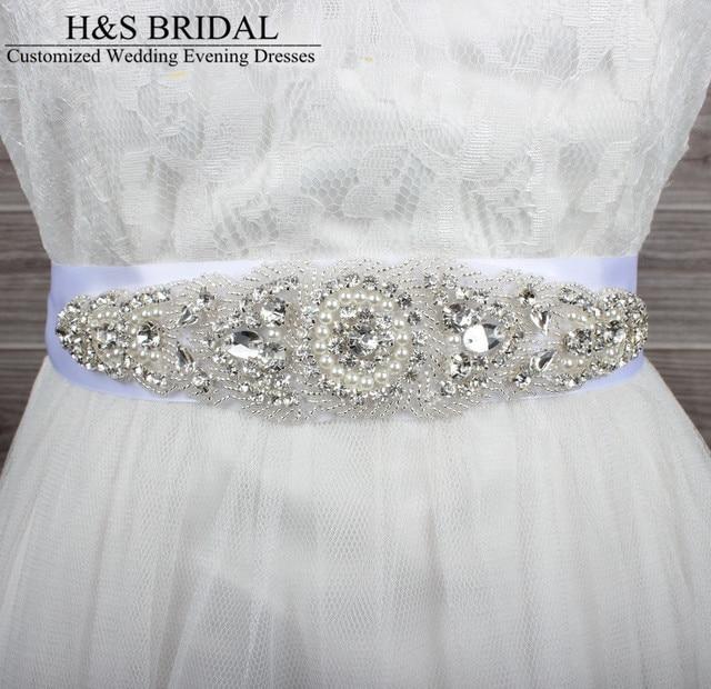 Luxury Crystal Bridal Belt Handmade Dazzling Glass Crystal Rhinestone Czech Stones Wedding Dress Waistband