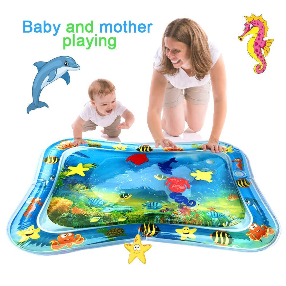 Hot Sales Baby Kids water play mat Inflatable Infant Tummy Time Playmat Toddler for Baby Fun Innrech Market.com