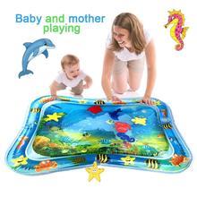 Gran oferta, alfombra de juegos de agua para bebés, colchoneta inflable para el tiempo de abdomen infantil para bebés, diversión para bebés, centro de juegos, DropshipTSLM1