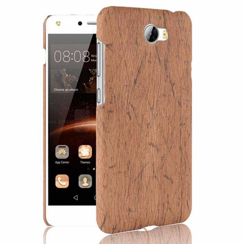 HUAWEI CUN-L01 coque de téléphone Huawei Y5 II 2 Y5II Y6 ii Compact CUN-U29 CUN-L21 Bois Grain Couverture Honneur 5A LYO-L21 CUN U29 L21 Funda