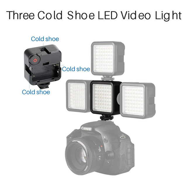 Ulanzi Dimmable 49 LED Camera LED Video Light DSLR On Camera Video Ultra Bright for Canon Nikon Pentax Sony Osmo Mobile 2 Smooth