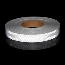 25MMX3M 3m Reflective Tape White Micro Film Warning Tape White Reflectors For bike Reflectors Helmet Frame ciclismo