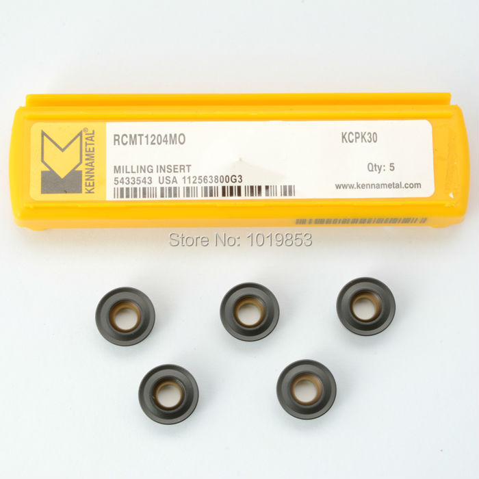 RCMT1204 MO KCPK30 kennametal Original carbide milling inserts for indexable end milling cutter CNC machine  цены