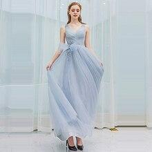 цена Evening Dresses Sleeveless Robe De Soiree V-neck Women Party Dresses 2019 Elegant Long Plus Size Sexy Backless Prom Dresses E593
