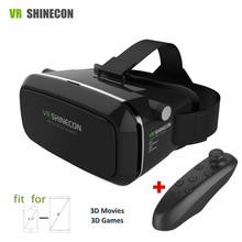 Virtual Reality Smartphone 3D VR Glasses Goggles Head Glasses Mount Moblie Helmet Cardboard 2.0 Box+Phone Bluetooth Control