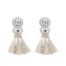 c2bd48feb New Fashion Silver/Gold Tassel Earrings For Women Handmade Bohemia Vintage  Beads Earring Ethnic Fringe Drop Earring Jewelry