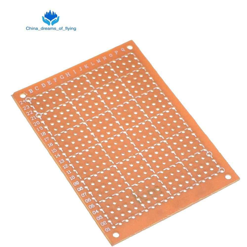 1 đổi 1 Cái 5*7 PCB 5x7 PCB 5 cm 7 cm TỰ LÀM Nguyên Mẫu Giấy PCB Đa Năng ban màu vàng