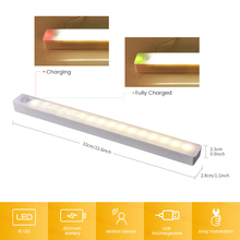 Motion Sensor Closet Lights Under Cabinet Lighting USB Rechargeable Counter