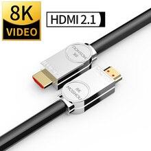 8K HDMI 2.1 Dây Cáp 48Gbps 8K @ 120Hz 4K60 @ Hz Hỗ Trợ Năng Động HDR 4:4:4 HDCP 2.2 3D Cho Đại Truyền Hình Máy Chiếu Blu ray Video Moshou