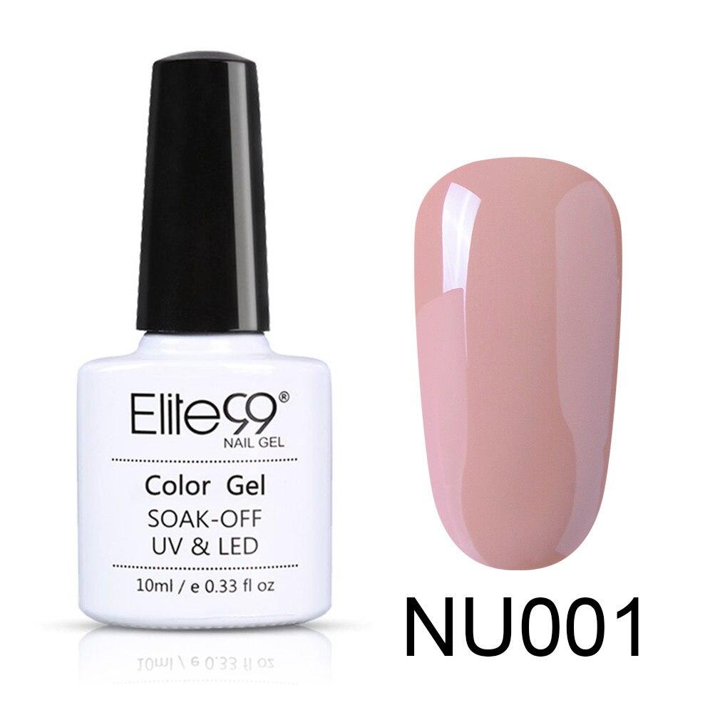 Image 2 - Elite99 Nude Color 10ml Gel Polish Vernis Semi Permanent UV Gel For Nail Art Gel Varnish Soak Off Nail Primer Gel Lacquer-in Nail Gel from Beauty & Health