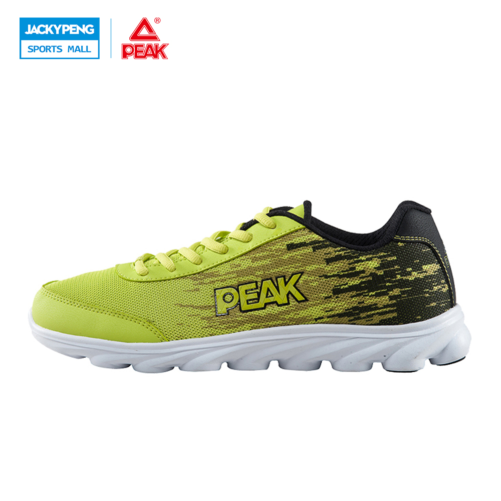PEAK Men's Hollow Damping Breathable Mesh Sports Running Shoes for Men Outdoor Lace-up Light Running Sneakers peak sport running shoes men mesh breathable mesh athletic sneakers trainers outdoor sports lightweight cushioning jgging shoes