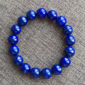 Luxurious natural lapis lazuli beaded bracelet royalblue color 12mm diameter lapis lazuli jewelry for woman