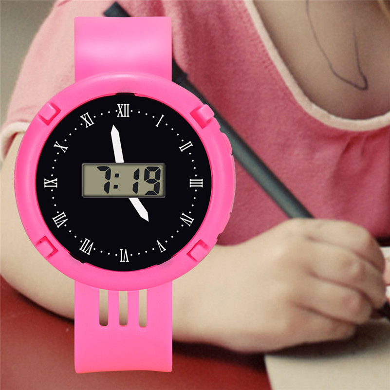 Fashion Boys Girls Watches Children Girl Analog Digital Sport LED Electronic Wrist Watch Kid Casual Design Dial Clock Gifts /DD