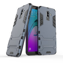 Armor Shockproof Case For Samsung Galaxy J8 2018 SM-J810G J810 J800F 3D Shield PC+Silicone Phone Case Cover For Samsung Case цена и фото