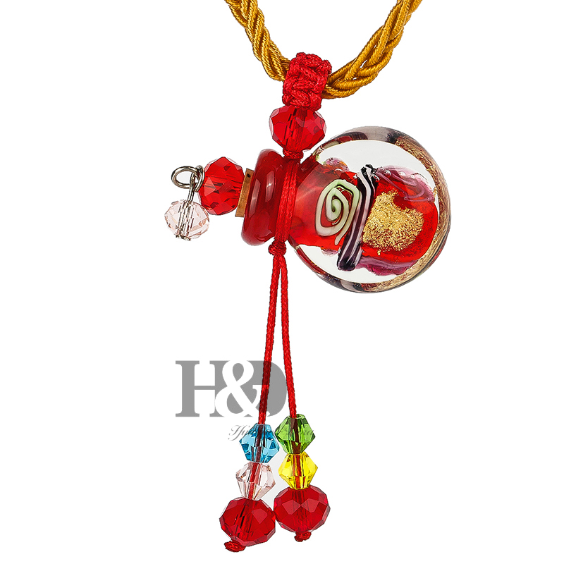 цена на 1PC Handmade Crystal Perfume Necklace Baroque (with cord) ,perfume Essential Oil vial necklace, Aroma Jewelry Necklace Pendant
