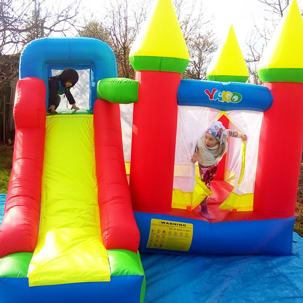 YARD Oxford Inflatable Games Castle Bouncer For Kids 3.5x3x2.7m Inflatable Jumping Trampoline Bouncer Castle With Slide Blower yard inflatable games castle bouncer house jumping slides free pe balls inflatabletrampolines oxford pvc kids children bouncer