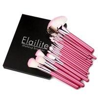 18 22pcs Classic Soft Makeup Brushes Synthetic Professional Cosmetic Makeup Foundation Powder Blush Eyeliner Brushes Elailite