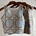 Women Tops Summer Sequined Embroidery Party Vest Sequined Paillette Tank