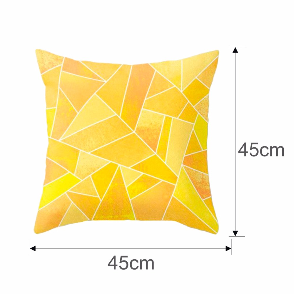 fengrise polyester geometric cushion yellow pineapple pillow decorative cushion for sofa diy printed pillow seat chair cushion