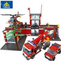 New Original Kazi City Fire Station 774pcs Set Building Blocks Educational Bricks Toys Compatible With Legoe