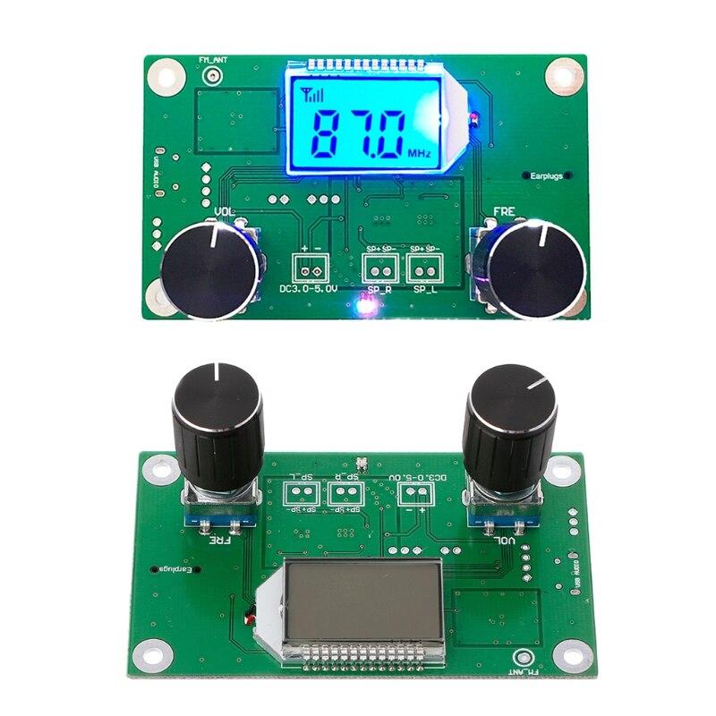 OOTDTY 87-108MHz DSP & PLL LCD stéréo numérique FM Module récepteur Radio + contrôle série