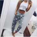 2017 Spring  New Arrival Pink Gray Women Pants Star Pattern Thicken Casual Pants Street or Home Wear Pants Calcas WITH FREE GIFT
