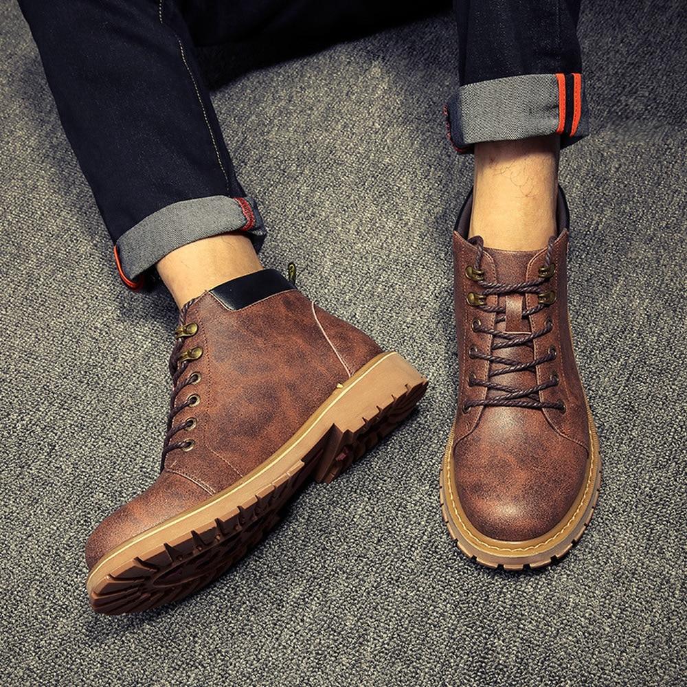 Cuir Casual Printemps De En Chaussures Martin Bottes 2018 Hommes qzT1wUg