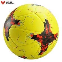 كرة القدم الرسمية حجم 5 حجم 4 بو الجلود فريق الرياضة بولا دي futebol المنافسة كرات التدريب دعم كرة القدم المخصصة