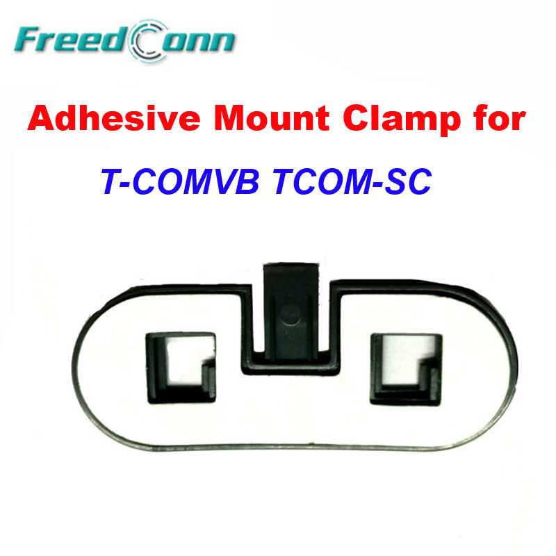 Double support de fixation adhésif support de fixation Clip de fixation pour affranchi TCOM-SC T-COMVB casque moto Bluetooth casque interphone