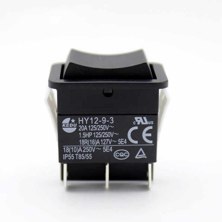 AERZETIX: Interruttore pulsante a bilanciere nero SP3T ON -OFF- 3A//250V 1 posizione C10709 ON