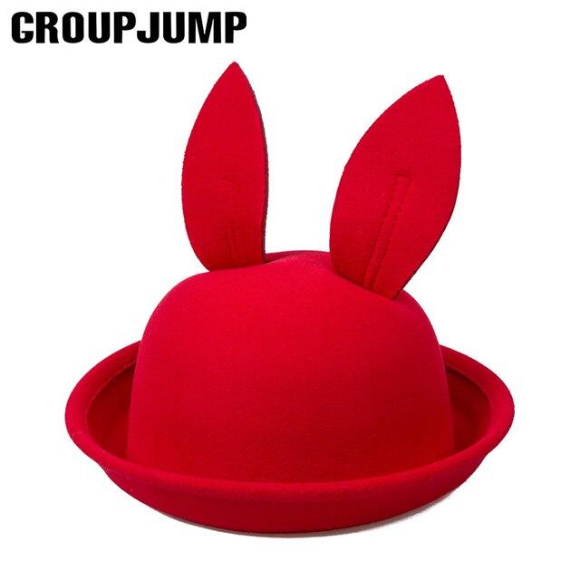 6783e909761 Cute Girls Bucket Hat For Children Cartoon Big Rabbit Ears Cap For Boys  Girls Summer Hat Kids Lovely Child Hat Beach Caps
