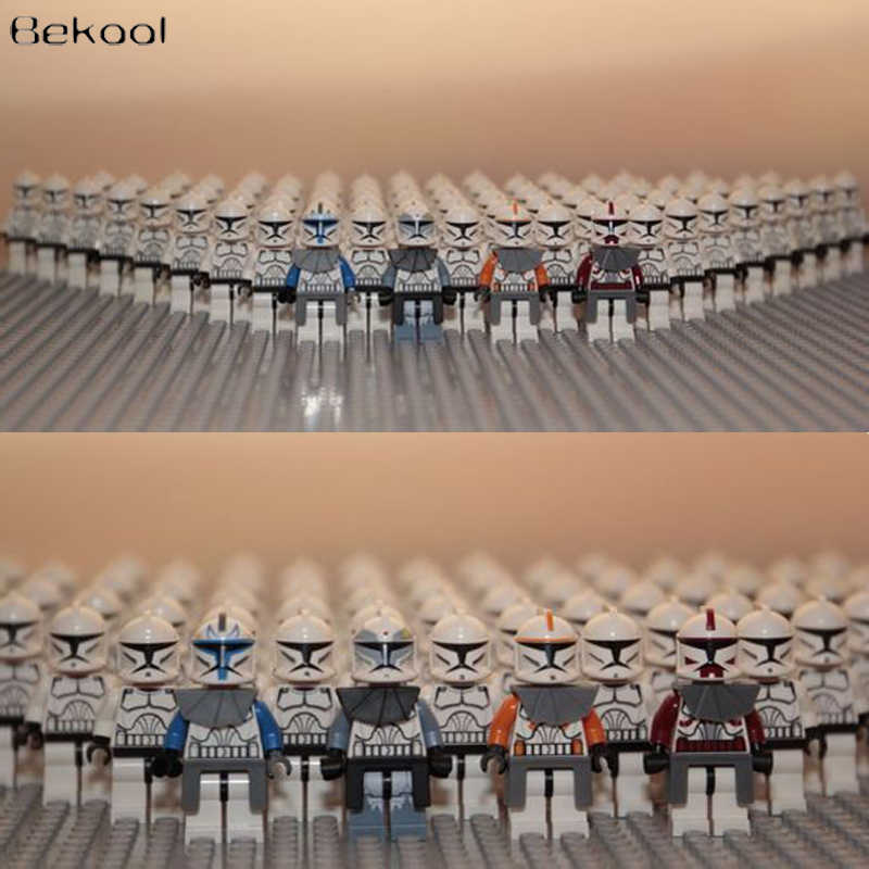 NEW 21PCS/LOT STAR WARS Wolfpack Clone Commander Captain Rex Storm Trooper compatible legoe figures building blocks kid toy