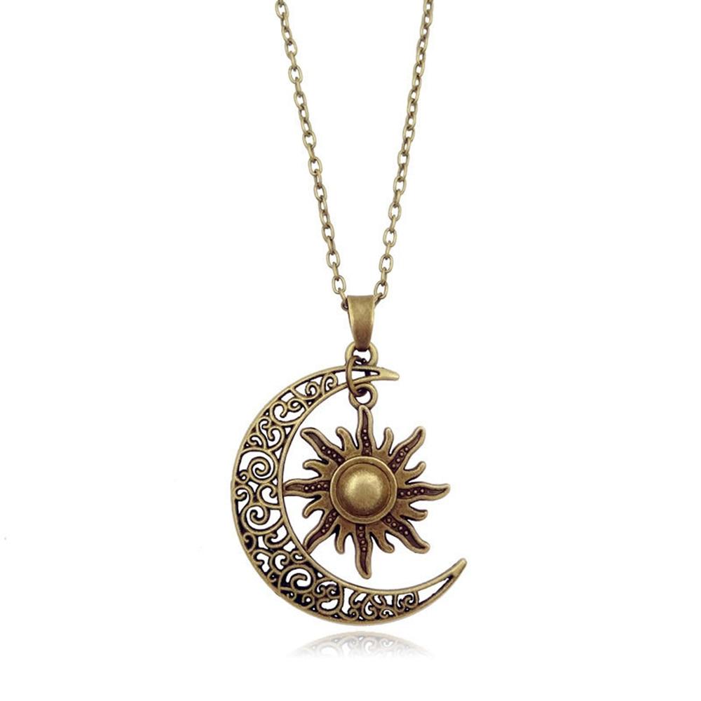 Heart Crystal Rhinestone Pendant Necklace Sweater Chain Women Retro Jewelry Gift