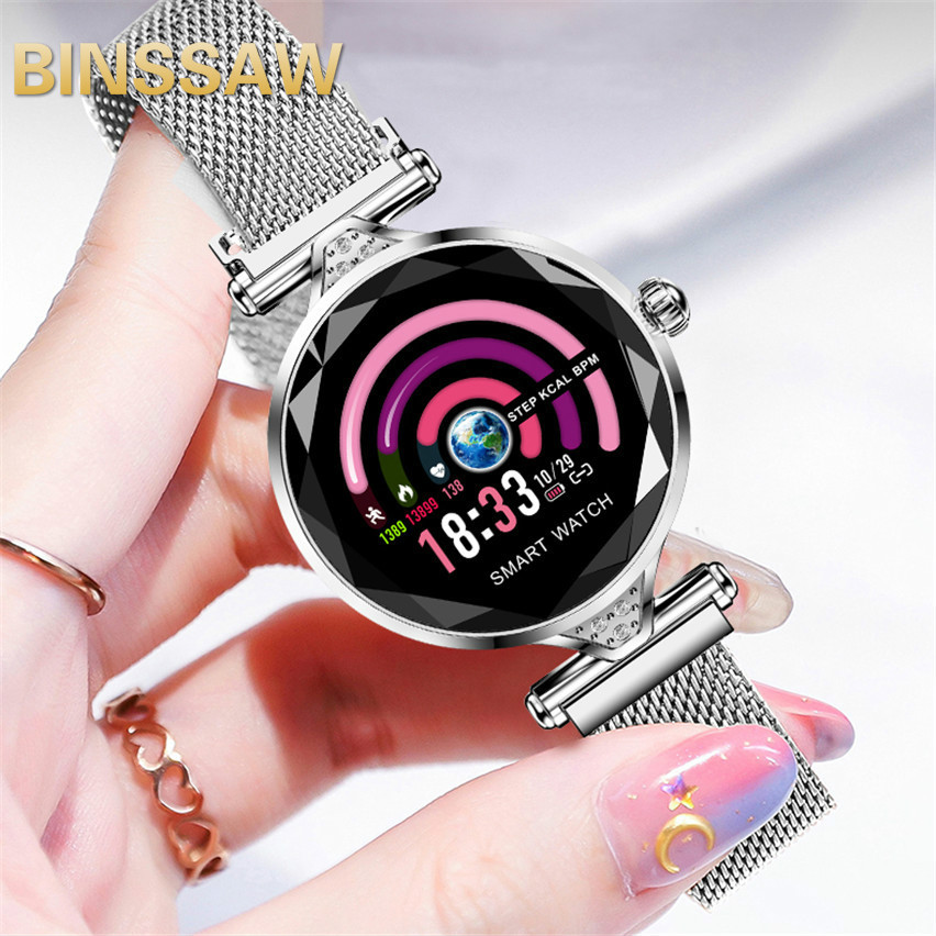 BINSSAW 2019 New Luxury Smart Watch Women Sport IP67 Waterproof Bluetooth For Android IOS Iphone Smartwatch Gift For GirlfriendBINSSAW 2019 New Luxury Smart Watch Women Sport IP67 Waterproof Bluetooth For Android IOS Iphone Smartwatch Gift For Girlfriend