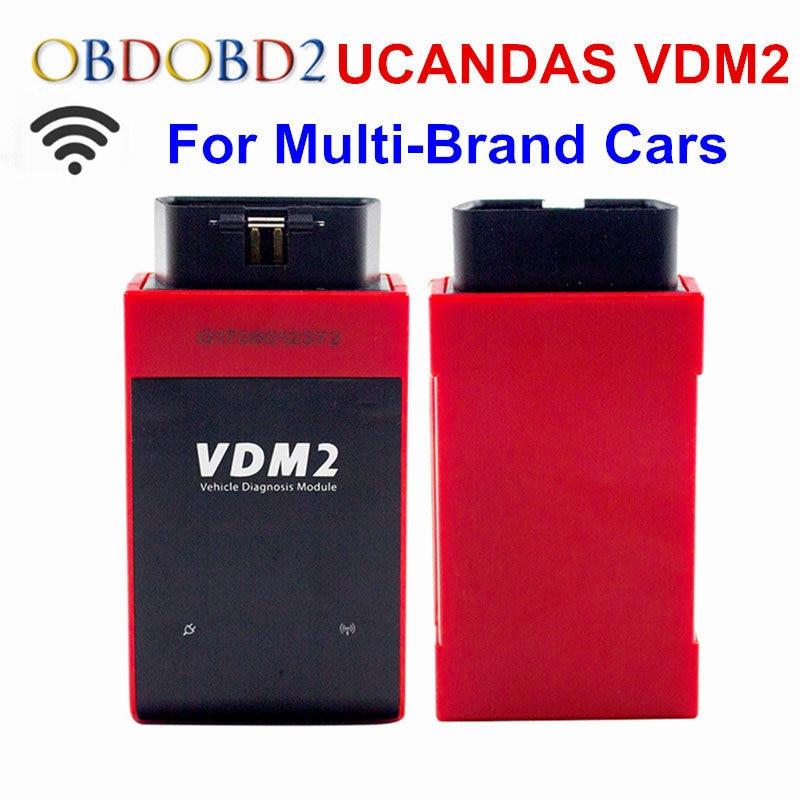 Беспроводной WiFi VDM2 ucandas тепло VDMII obd2 Автоматический автомобиля диагностический сканер для андроид ВДМ II полный systerm петролеума, химической промышленнос VDM2 В3.9 Автомобильный Сканер