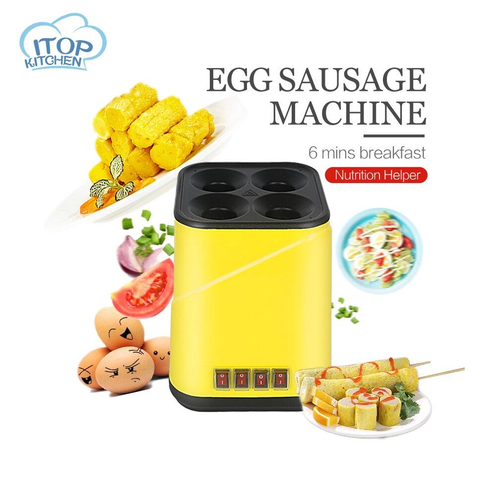 4 Tubes Commercial baked Egg Sausage Automatic Maker Hot dogs baking Machine Omelet breakfast Eggs Roll Maker Omelette Master