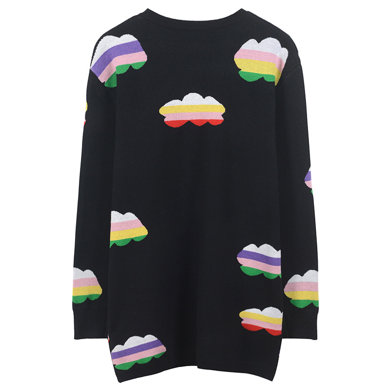 Nuage Tricot Pull Chandails Couleur Top Nouvelle Femmes Automne Long Hiver Fomolayime En 2018 Lâche W8Odpqxqwg