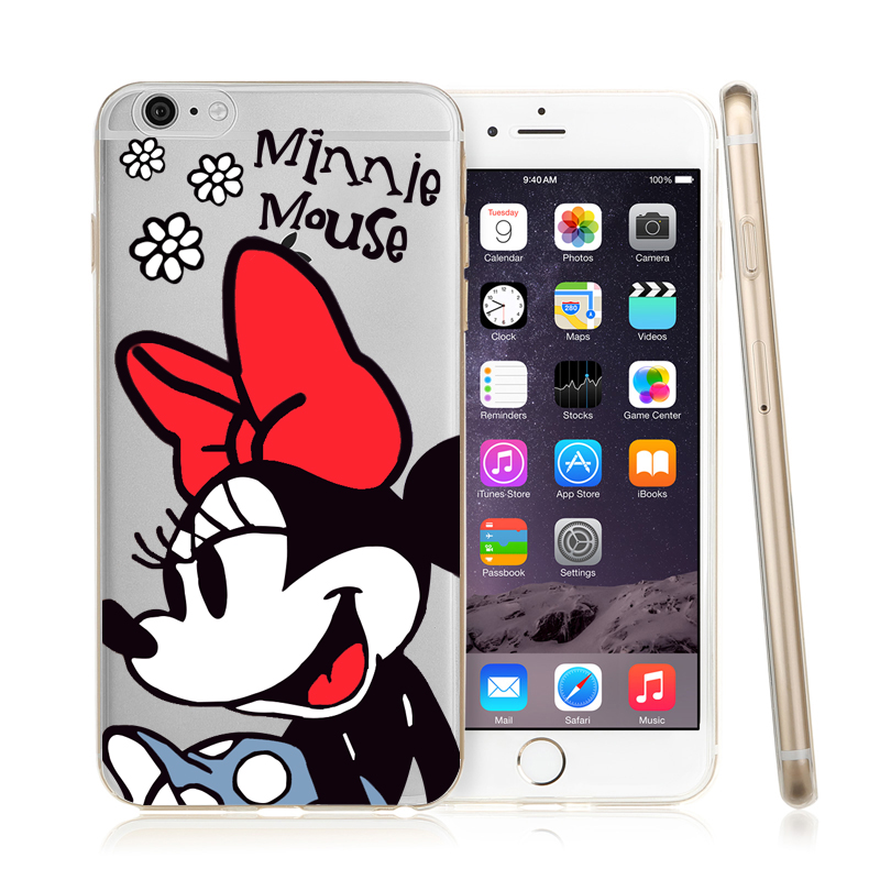 Cartoon Soft Silicone Case For Apple iPhone 7 8 5 5s SE 6 6s 7 Plus 8 Plus X Case Mickey Minnie Mouse Donald Daisy