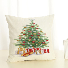 цена на GZTZMY45X45cm Pillow Cover Christmas Decorations for Home Sofa Merry Christmas Tree Sleigh Ball Sock Gift Boots Linen Pillowcase