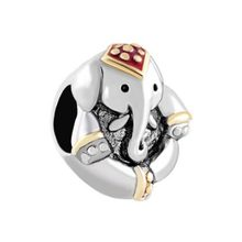 Free shipping Antique' D Thailand Elephant Animal Charm beads fit Pandora bracelet(China)