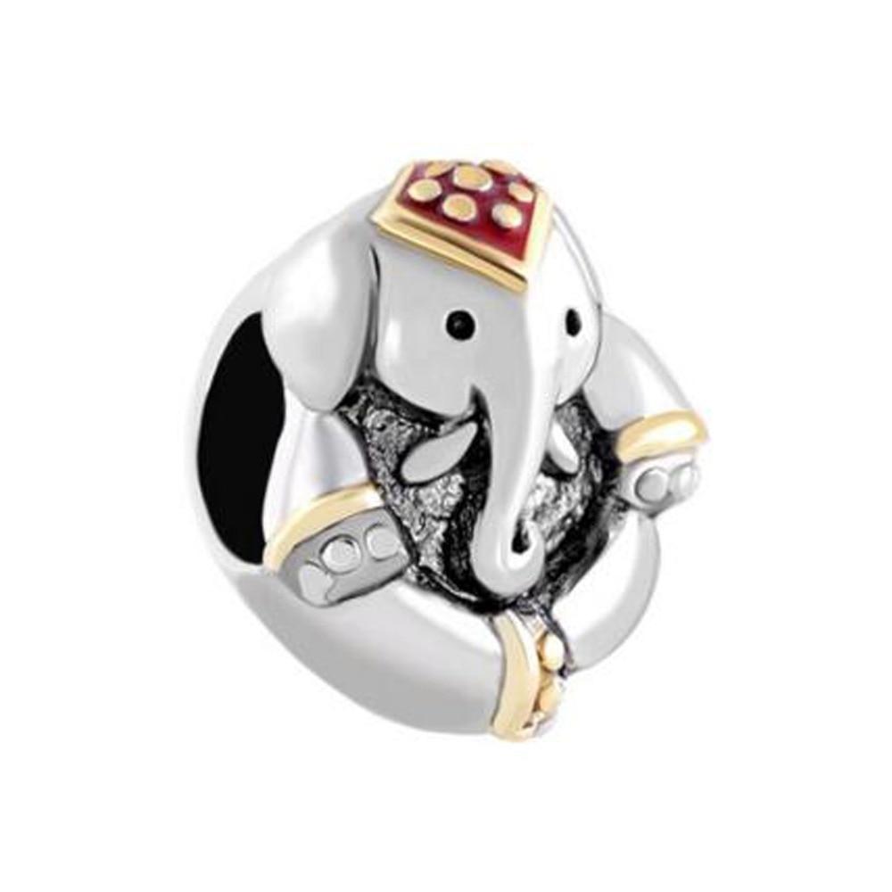 Free shipping Antique' D Thailand Elephant Animal Charm beads fit Pandora  bracelet