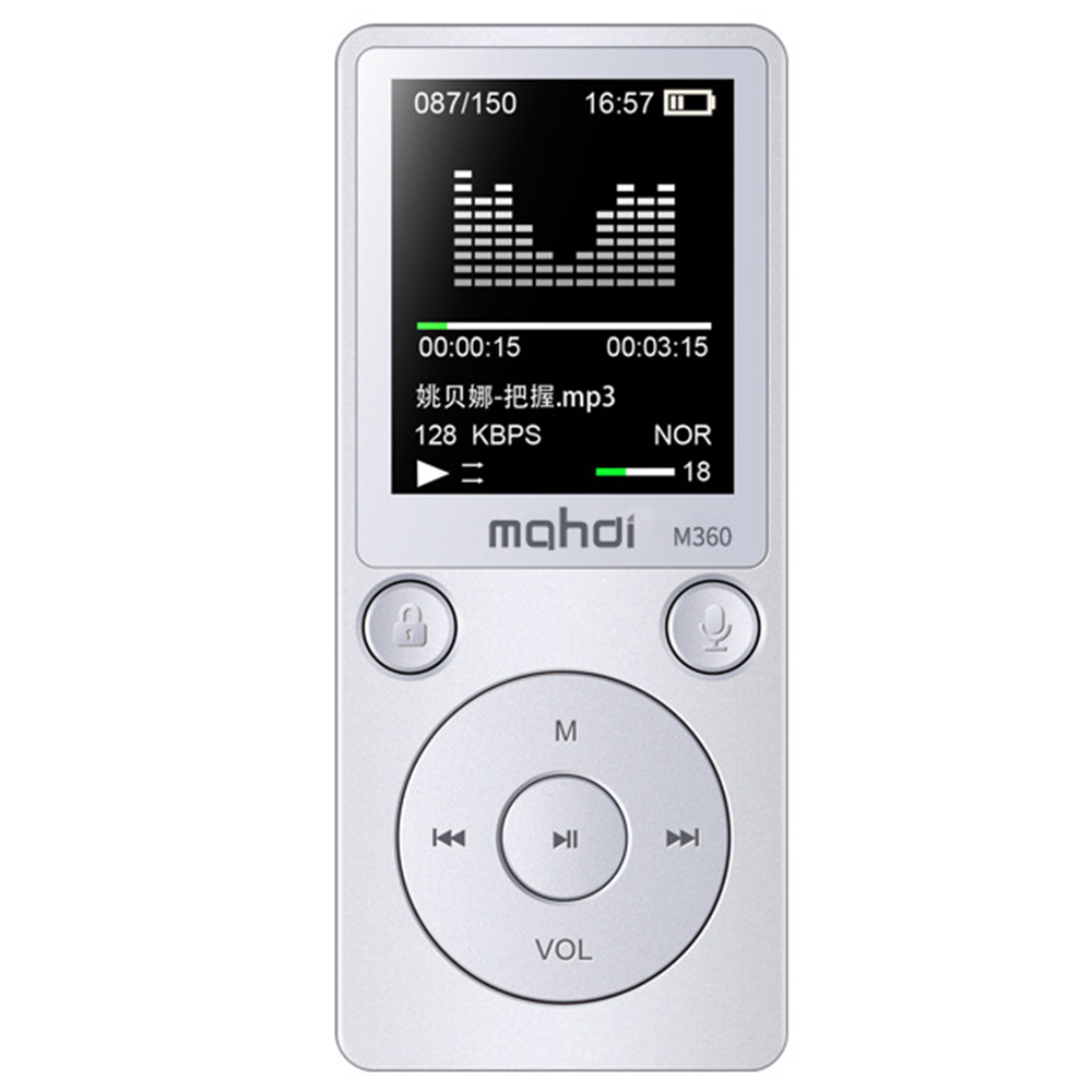 Genuine 8GB HD Digital Audio Sound Voice Recorder Dictaphone MP3 Player Support Recording APE format 10m Noise Reduction Music