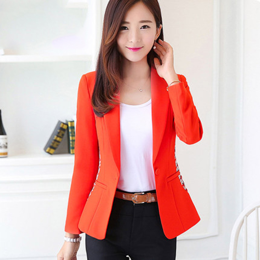 Casual Suits White Women Blazers Plus Size Long Sleeve Blazer ...