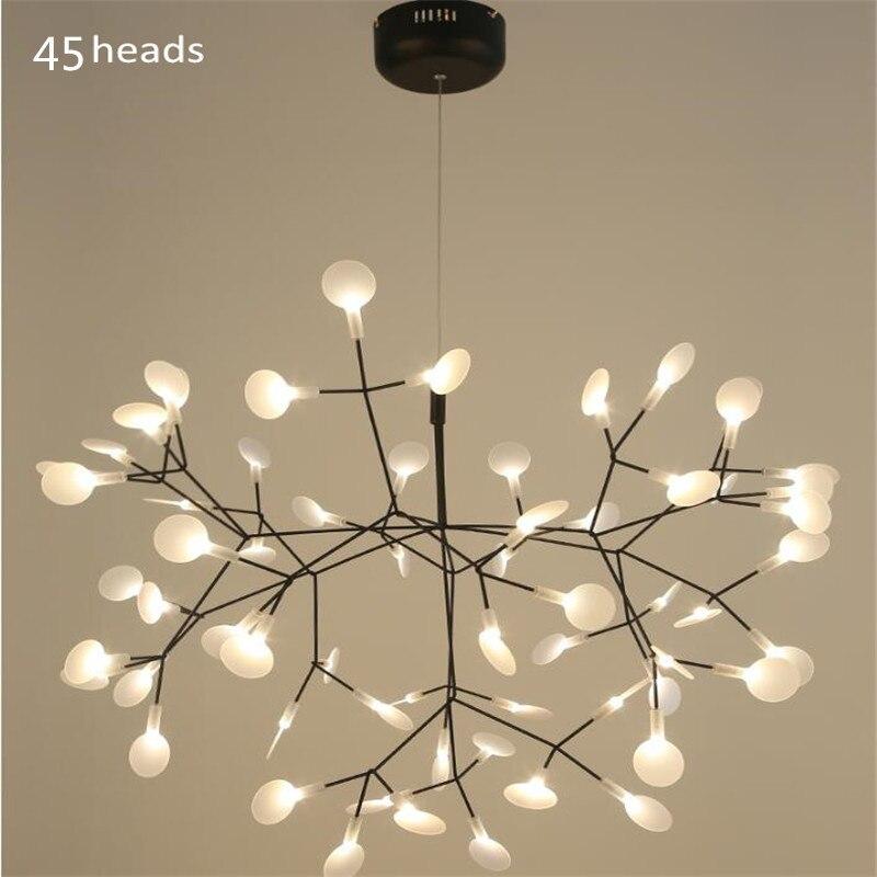 Современные акриловые Firefly светодио дный подвесные светильники ветке дерева Дизайн светодио дный люстры, лампы люстры hanglampe подвеска Luminaria