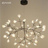 Modern Acrylic Firefly Led Pendant Lamps Branch Tree Design led Chandelier Lighting lamp Lustres hanglampe Suspension Luminaria