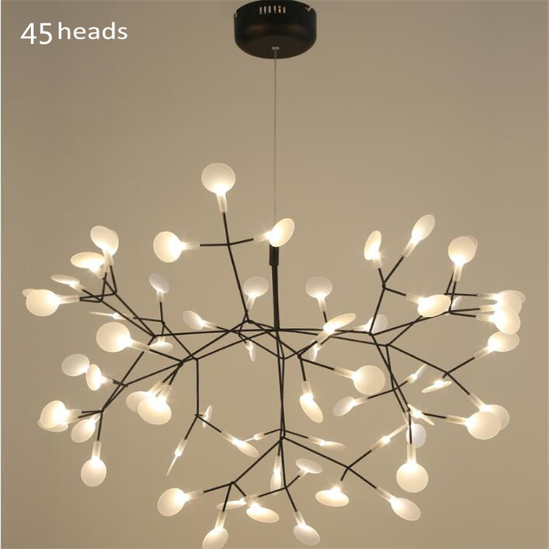 Moderne Acrylique Luciole Led Lampes Suspendues Branche Arbre Design conduit Lustre Éclairage lampe Lustres hanglampe Suspension Luminaria